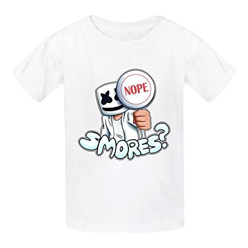 163 Mar-shMe-llo - Camiseta de manga corta para niñas