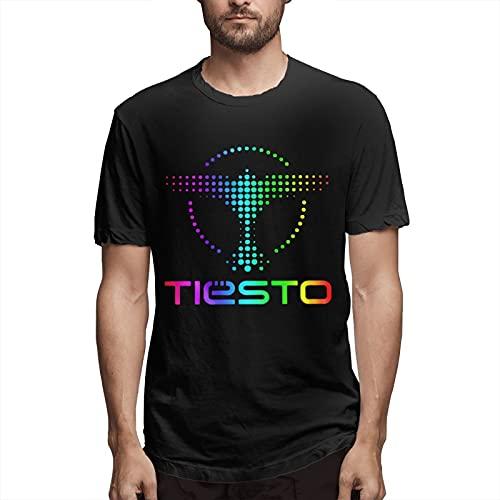 Seanyet Fredqal Dj Tiesto - Camiseta de manga corta con cuello redondo para hombre, color negro