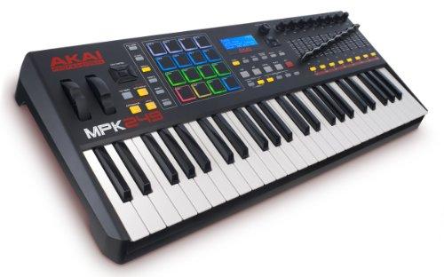 AKAI Professional MPK249 - Teclado controlador MIDI USB de 49 teclas semi-contrapesadas, controles MPC asignables, 16 Pads, Q-links, botones, conectividad plug-and-play y Paquete de Software