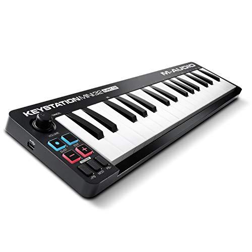 M-Audio Keystation Mini 32 MK3 - Mini Teclado Controlador MIDI / USB de 32 teclas Ultra portátil con ProTools First, M-Audio Edition y Xpand!2 de AIR Music Tech