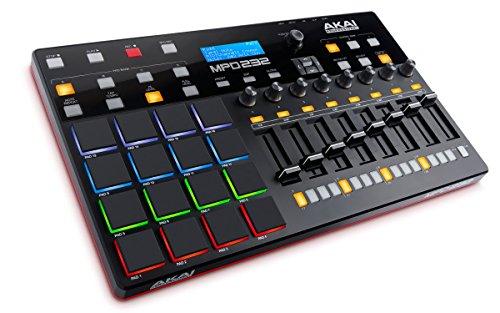 AKAI Professional MPD 232 - Controlador USB MIDI ultra-portátil con 16 pads MPC, secuenciador por pasos y controles de producción completamente asignables y paquete de software de producción incluido