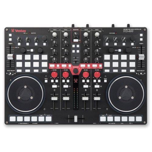 Vestax AMS-VCI-400 - Controlador de DJ (4 canales), color negro