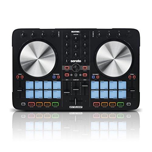 Reloop Beatmix 2 MK2 - Controlador PAD para DJ de 2 decks Serato Performance, 16 pads de batería multicolor para activar el bucle, USB