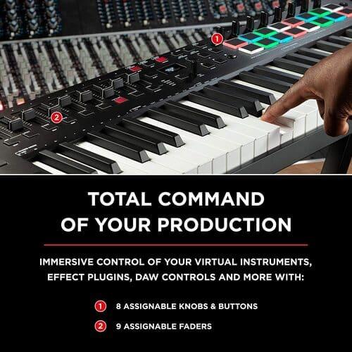 teclado midi m audio