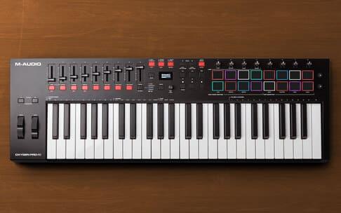 teclado midi usb barato