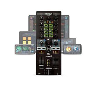 Controlador de DJ mixtour para ipad