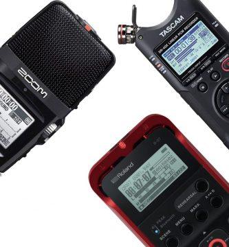 3 grabadoras de audio portátiles