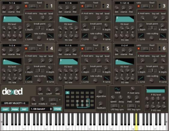 sintetizador free Dexed