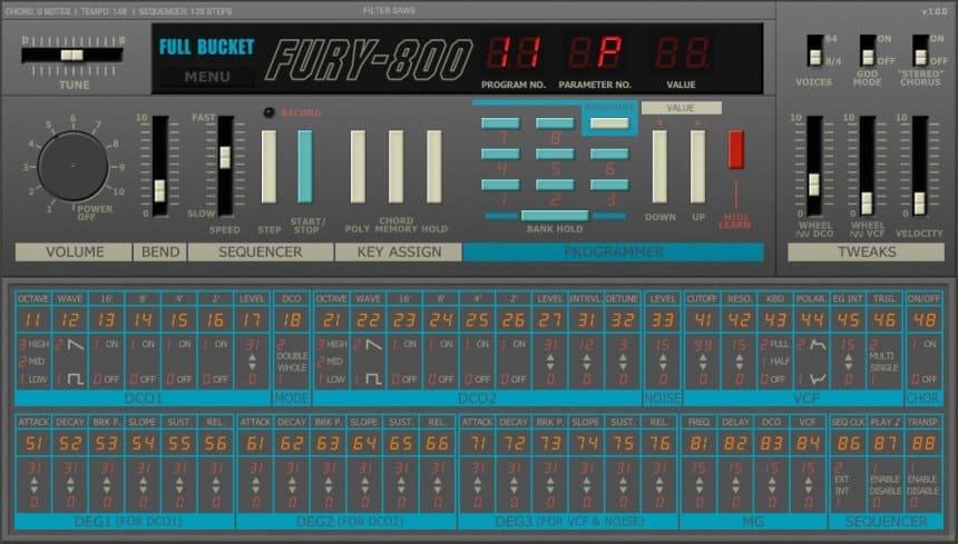 emulación del sintetizador poly-800 de korg