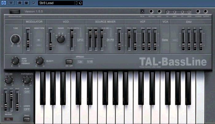 sintetizador de bajos tal-bassline