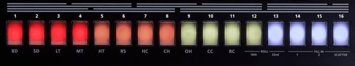 secuenciador de la roland tr8s